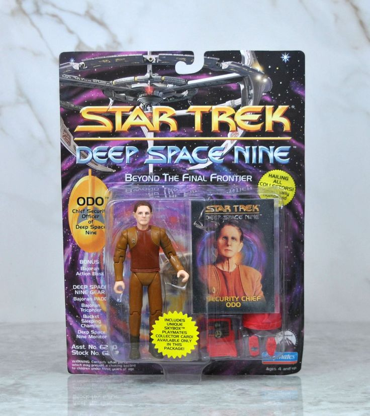 Vintage Playmates Star Trek Deep Space Nine Action Figure 1993 Security Chief ODO  Skybox Playmates Collector Card, DS9, Space Station by winterparkcollect on Etsy