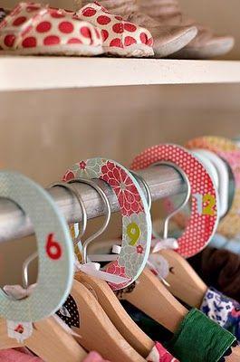 baby closet organization great idea!