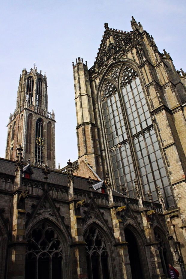 Dom Tower and Cathedral of Saint Martin in Utrecht, Netherlands #holland