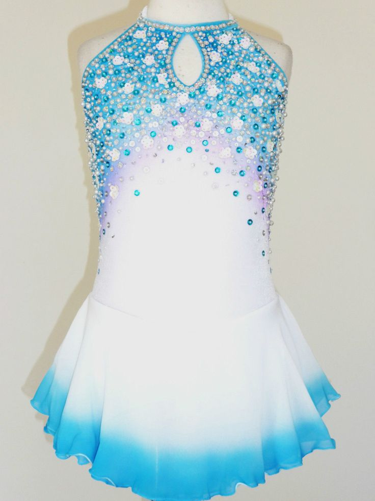 Beautiful Lovely Ice Skating Dress Size Girls Medium | eBay