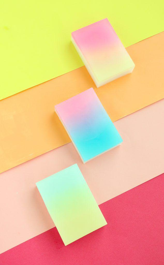 DIY gradient soap bars