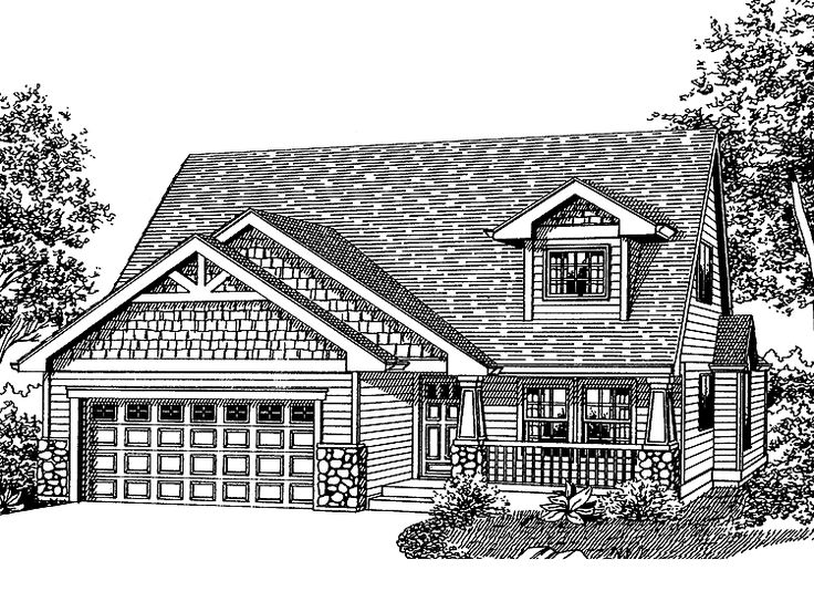 images about Fav home plans on Pinterest   House plans    Best bungaloft Eplans Bungalow House Plan   Three Bedroom Bungalow   Square Feet and