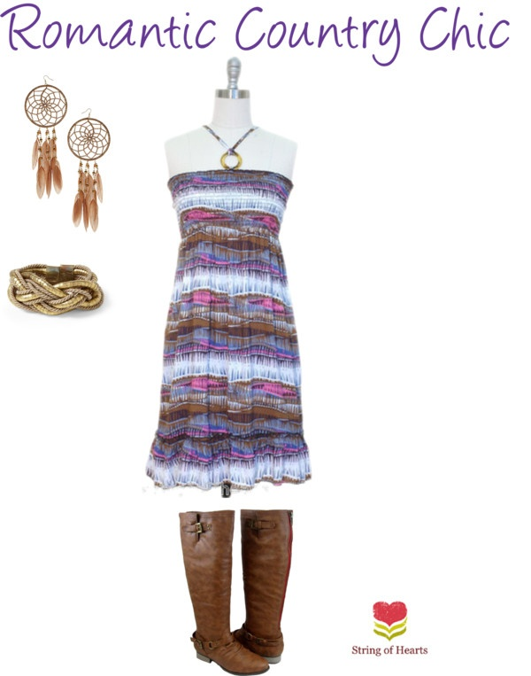 """""""Romantic Country Chic Outfit"""" by stringofhearts on Polyvore"""