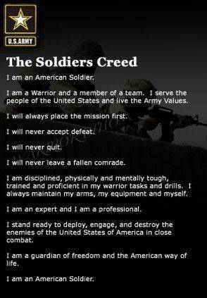 Hearing the soldiers say this at Graduation was so amazing and makes me realize how truly tough they have become...