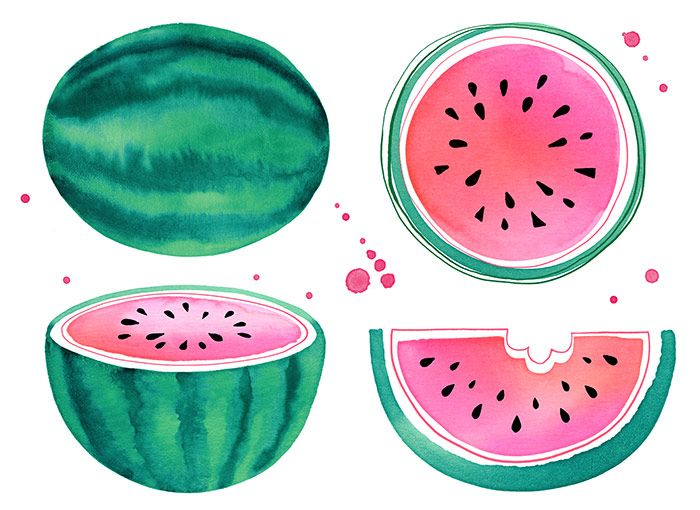 Margaret Berg Art: Watermelon Slices