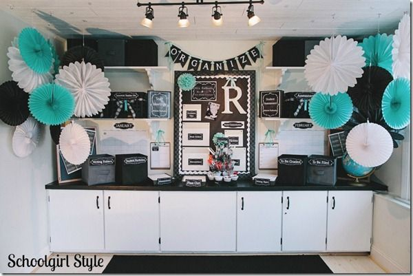The Organization Station- LOVE the colors!!