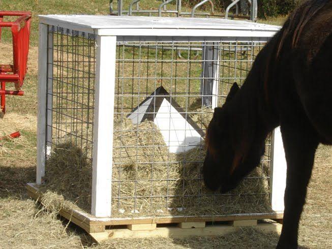 No Waste Goat Hay Feeders
