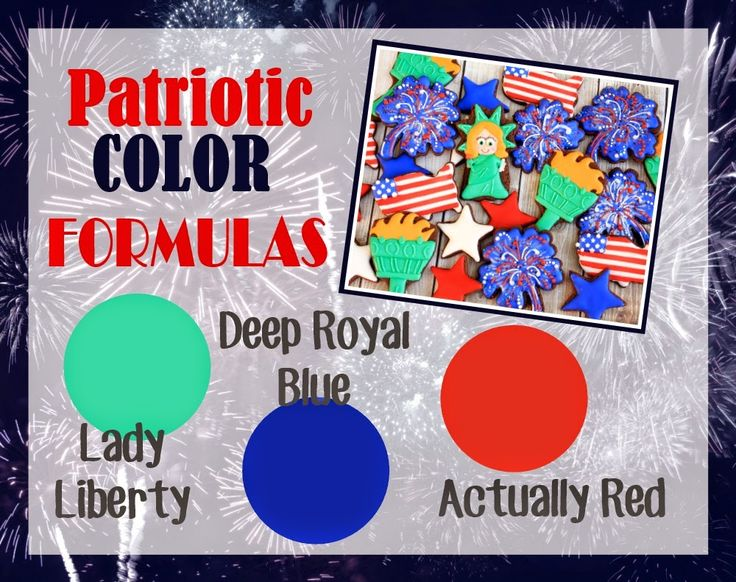 How to make Patriotic Icing Colors - LilaLoa