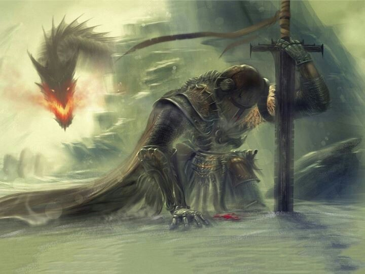 Skyrim fan art I know nothing about Skyrim but this is a pretty awesome picture