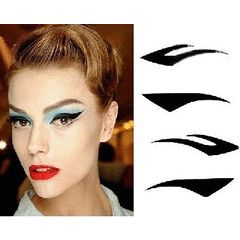 Vintage Eyeliner STICK ON Tattoo TEMPORARY - 4 styles - FREE Shipping  HOT! for R19.99