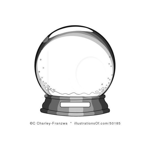Snow Globe Clipart #50185 by C Charley-Franzwa | Royalty-Free (RF)... ❤ liked on Polyvore featuring backgrounds, christmas, snow globes, frames, fillers, effects, circles, circular, round and borders