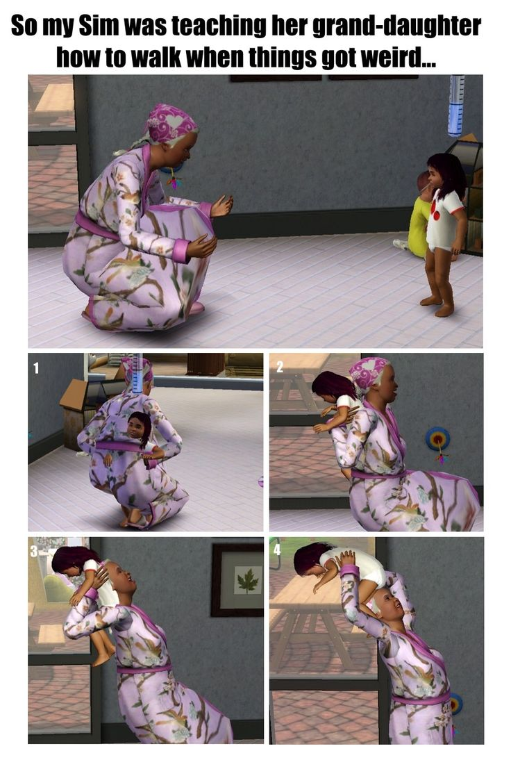 SACRIFICE THE CHILD! One time in sims I was teaching my baby how to talk and (this was before I knew you could use cheats) they got stuck teaching my child how to talk forever.