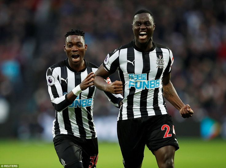 However, West Ham's lead was short lived as Henri Saivet (right) drew Newcastle level about five minutes after conceding
