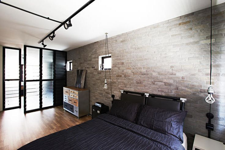 Ideas For A Bare Living Room Wall Custom Cabinets This Industrial Hdb Flat Is Edgy Yet Cosy | Home & ...