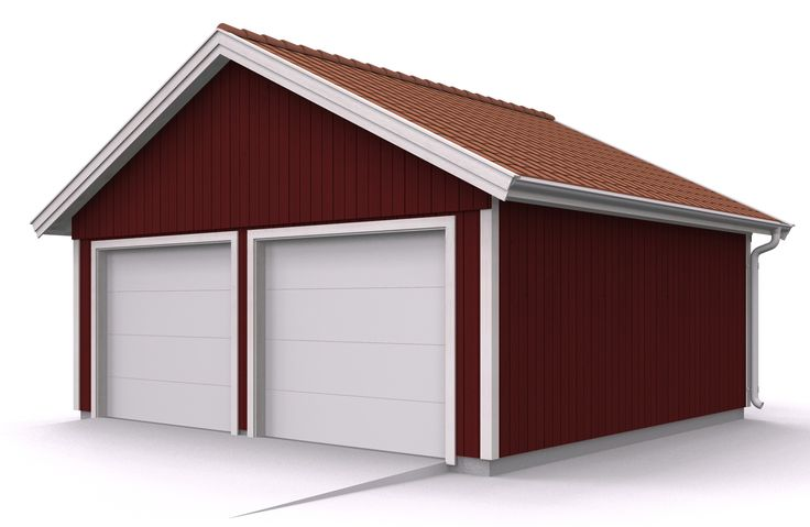 Mellby garage - Dubbelgarage sadeltak
