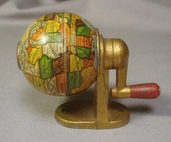 Vintage c1950s World Globe German Pencil Sharpener - For sale on Ruby Lane