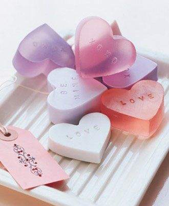 Heart-Shaped Soap for Valentine's Day