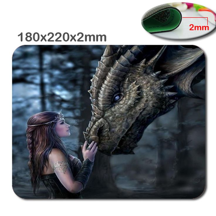 Once Upon a Time Anne Stokes Dragon Rectangle mouse pad by atmyshop Your Best Choice .in 220mm*180mm*2mmOr 29MM*25MM*2Mm