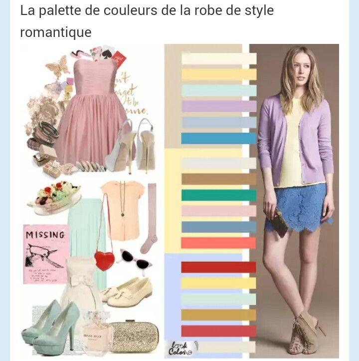 Couleurs style robes romantique