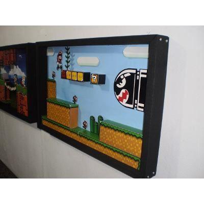 Mario World Quadro Diorama Jogos Snes Wii U Super Nintendo - R$ 230,00 no MercadoLivre