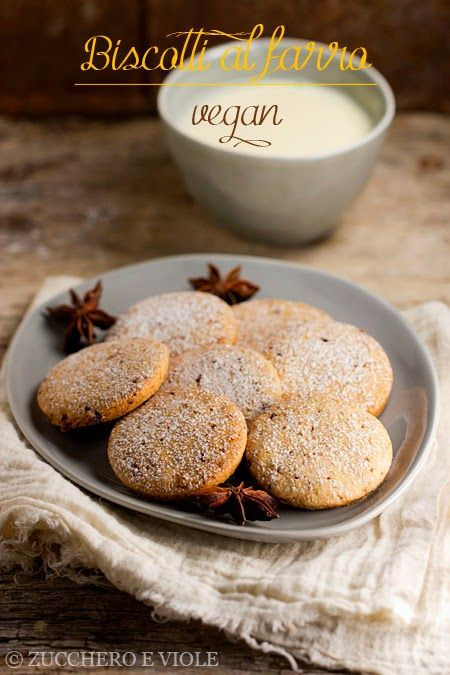 zucchero e viole vegan-vegetarian blog: Biscotti al farro vegan
