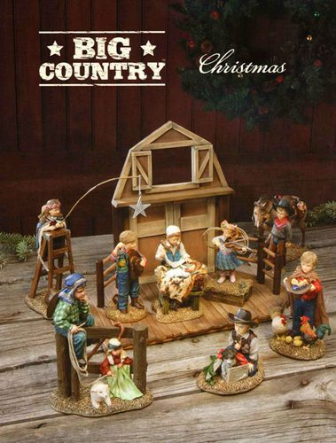 Big Sky Carvers Western Cowboy Christmas Nativity Set by Artist Kathy Fincher | eBay