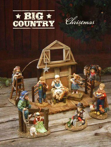 Big Sky Carvers Western Cowboy Christmas Nativity Set by Artist Kathy Fincher | eBay