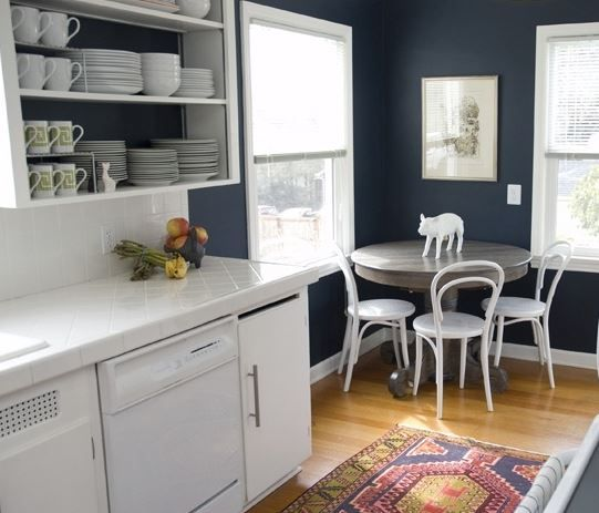 Kitchen Cabinet Colors With Black Appliances: Kitchen Paint Color And White Appliances With White