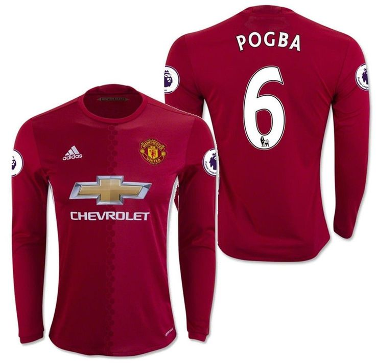 e3ff93999 ... Soccer Jersey Shorts Adidas paul pogba manchester united long sleeve home  jersey 201617 ...