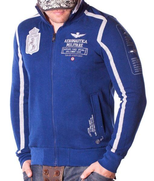 Aeronautica Militare Hanorace Cu Fermoar - Supporto Forz hanorac cu fermoar albastru