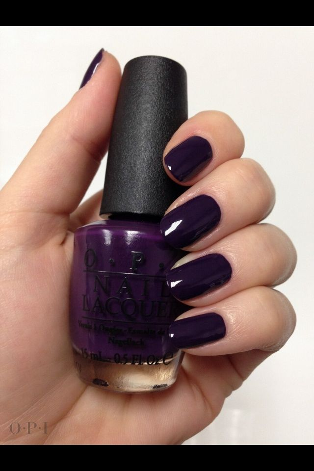 Dark Purple Opi Nail Polishcurrently On My Nails I Love This Color Nails Dark Purple Nails