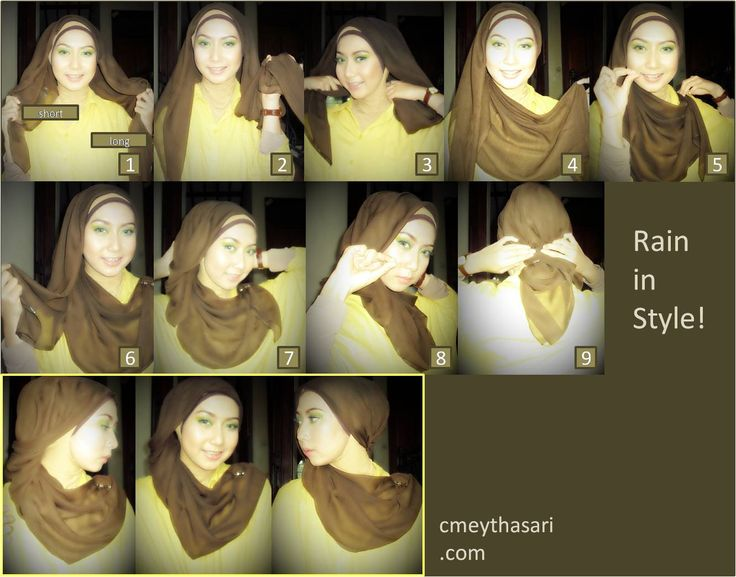 Rain in Style - Hijab tutorial