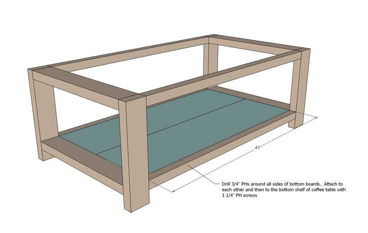 Ana white build a rustic x coffee table free and easy for Small coffee table plans