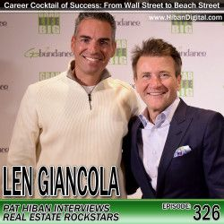 Len Giancola grew up in NYC and started his career on Wall Street. He eventually became the youngest Managing Director of the Americas for a global prime brokerage firm. After experiencing 9/11 firsthand, Len decided to cash in and retire from the financial industry and moved his family to Florida... #realestate #podcast #pathiban #hibandigital #hibangroup #HIBAN #lengiancola #realestatesales #realestateagent #realestateagents #salespeople #salesperson