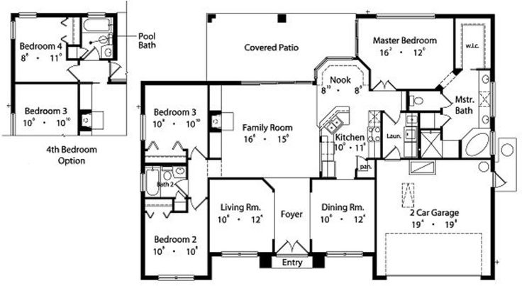 1783 sq ft plan 417 144 main floor enlarge kitchen - 10x10 kitchen designs with island ...