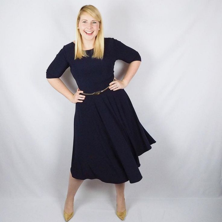 Stella dress in navy