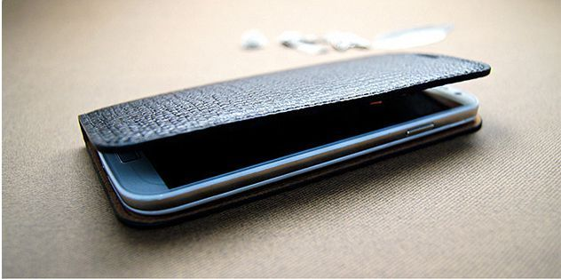 Jacklyn Genuine Cow's Leather Flip Cover for Galaxy S4 Active