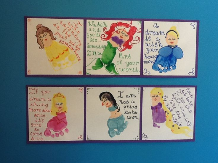 Disney princess footprint craft! Infant/toddler room ...