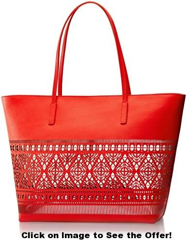 Vince Camuto Lila Travel Tote, Poppy Red, One Size
