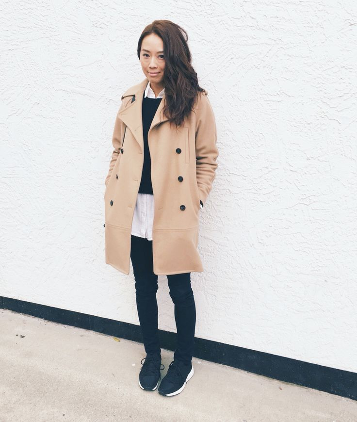 My style: Zara sweater, Community button up shirt and Wilfred double breasted coat from Aritzia, Rag and Bone skinny jeans, Zara sneakers #zara #aritzia #ragandbone #dailylook #dailyoutfit #fashion #fashiondiaries #lookbook #mystyle #theonlyspot #athleisure #myaritzia #NowhereEverywhere #ootd #outfit #ootdwatch #style #stylegram #styleinspo #streetlook #streetstyle #streetfashion #wiwt #whatiwore