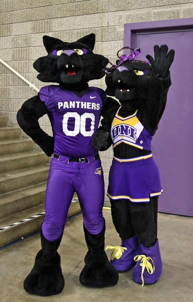 University of Northern Iowa Panthers. TC (The Cat) and TK (The Kitten). UNI was founded as a result of two influential forces of the nineteenth century. First, Iowa wanted to care for orphans of its Civil War veterans, and secondly, Iowa needed a public teacher training institution. In 1876, when Iowa no longer needed an orphan home, legislators Edward G. Miller and H. C. Hemenway started the Iowa State Normal School.