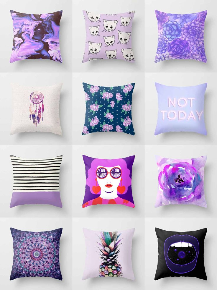 Society6 Purple Throw Pillows - Society6 is home to hundreds of thousands of artists from around the globe, uploading and selling their original works as 30+ premium consumer goods from Art Prints to Throw Blankets. They create, we produce and fulfill, and every purchase pays an artist.