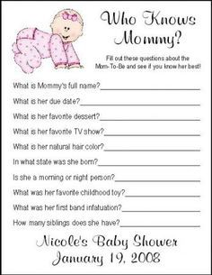 funny baby shower games.. You never know when you'll have to plan one!