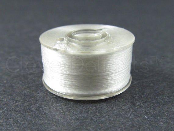 Class 15 Black Embroidery Thread SA156 A size Pre-wound Plastic Bobbins