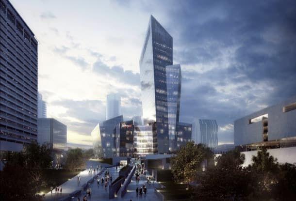 K18B: más renders del proyecto de Libeskind en Lituania. Este artículo muestra más imágenes publicadas del proyecto K18B, diseñado por Studio Libeskind para el centro de negocios de la capital de Lituania (Vilna). Posee una torre de 18 pisos, por encima de un podium de 6 plantas. Acoge un centro de negocios clase A, un hotel Radisson RED, y una amplia variedad de locales comerciales.  #Arquitectura