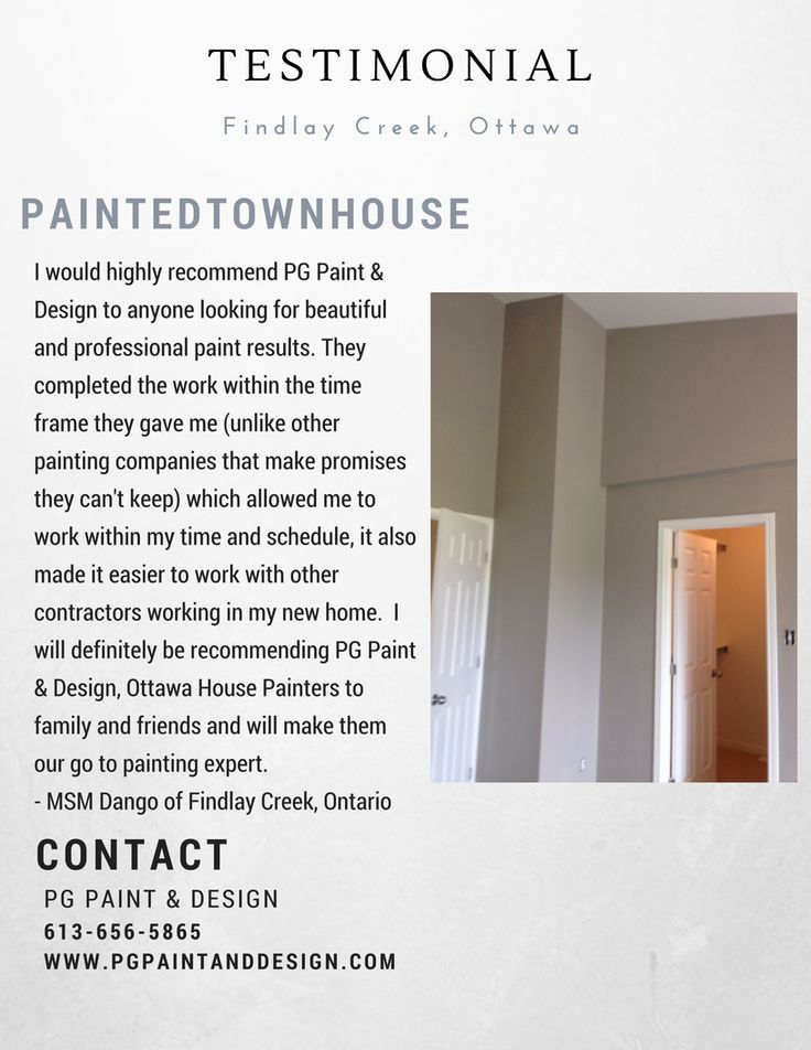 9 best PG PAINT & DESIGN - Ottawa House Painters Testimonials and ...