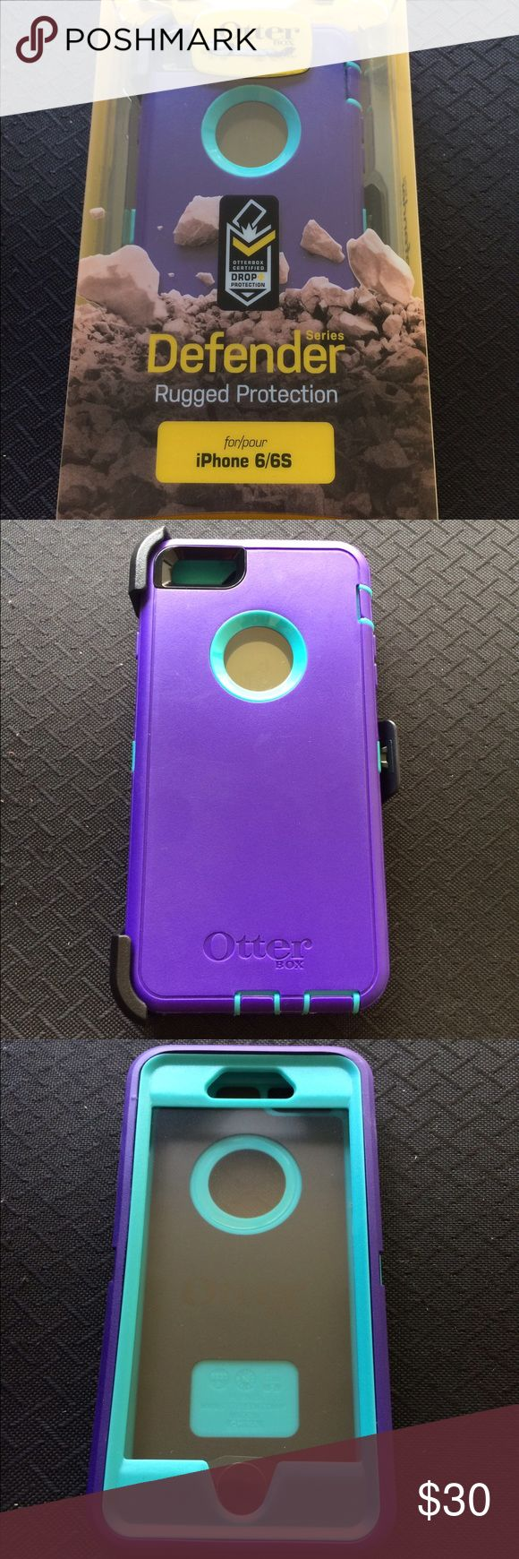 iPhone 6 otterbox Defender case Otter-box  For 6 & 6S   ✅ ✅Please read before buying! ✅ Next Day Shipping !! ✅Only for iPhone 6 & 6S  ✅comes with belt clip ✅comes with screen protector    Customer service is my main goal, I am always willing to make my customer happy if a problem arises. Thank you.  Otter Box Certified Drop+ Protection  you can be sure your device is protected from the wear and tear of everyday use. OtterBox Accessories