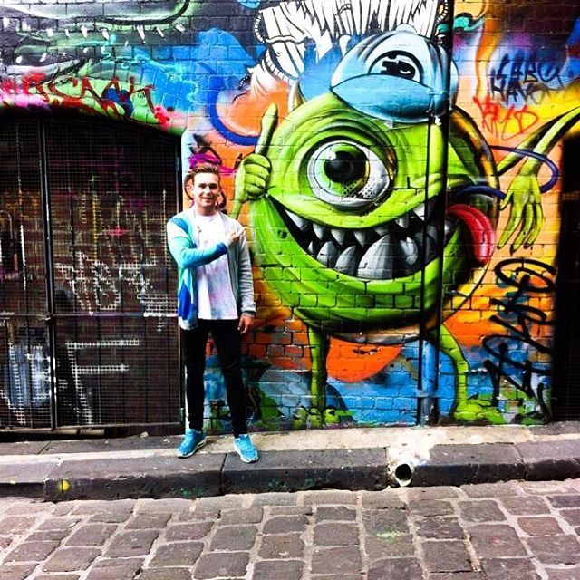 When in Melbourne go to hosierlane and see the graffiti it changes all the time. So glad i got to see Monstersinc tho