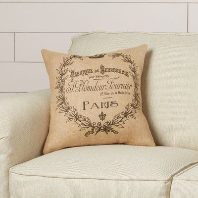 You'll love the Grainsack Burlap Throw Pillow at Wayfair - Great Deals on all Décor & Pillows products with Free Shipping on most stuff, even the big stuff.