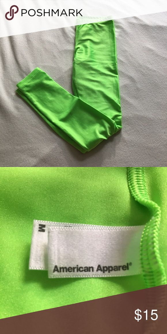 Lime Green American Apparel Leggings Lime Green American Apparel Leggings American Apparel Pants Leggings